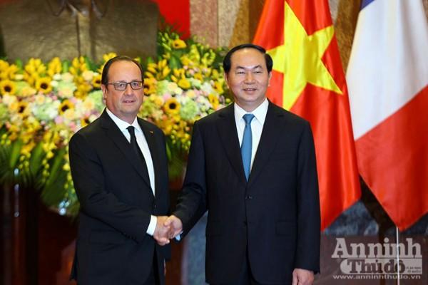Chủ tịch nước Trần Đại Quang và Tổng thống Pháp Francois Hollande