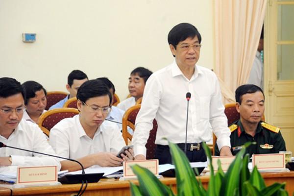 Thiếu tướng Đoàn Duy Khương, Giám đốc CATP Hà Nội phát biểu tại buổi làm việc