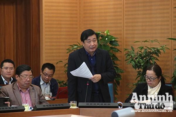 Phó Tổng cục trưởng Tổng cục Thuỷ lợi, Bộ NN&PTNT Trần Quang Hoài phát biểu tại buổi làm việc