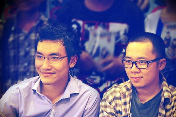 Nguyễn Khánh Dương và Nguyễn Thành Phong - hai thành viên chính của nhóm làm game