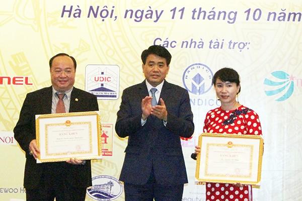 Chủ tịch UBND TP Hà Nội Nguyễn Đức Chung cảm ơn sự đóng góp của cộng đồng doanh nghiệp, doanh nhân Hà Nội