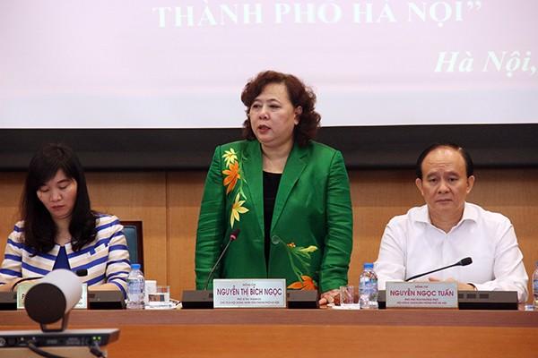 Chủ tịch HĐND TP Nguyễn Thị Bích Ngọc yêu cầu HĐND các cấp phải phối hợp chặt chẽ với các cơ quan báo chí để hoàn thiện hoạt động của mình
