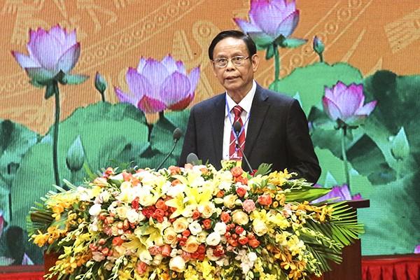 PGS, TS Nguyễn Hồng Vinh, nguyên Ủy viên Trung ương Đảng, Phó Chủ tịch Hội hữu nghị Việt - Nga chia sẻ những kỷ niệm, tình cảm tại Lễ Kỷ niệm 100 năm Cách mạng Tháng Mười Nga