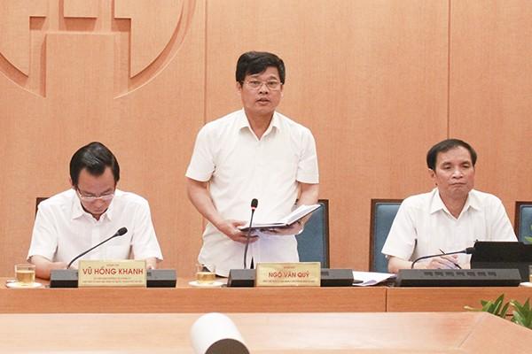 Phó Chủ tịch UBND TP Hà Nội Ngô Văn Quý kết luận hội nghị