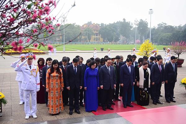 Các đồng chí lãnh đạo TP Hà Nội