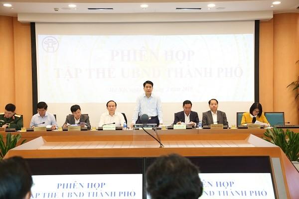 Chủ tịch UBND TP Nguyễn Đức Chung chủ trì phiên họp tập thể UBND TP tháng 2