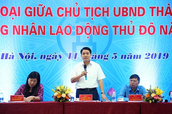 Chủ tịch UBND TP Nguyễn Đức Chung trả lời các kiến nghị của công nhân, người lao động Thủ đô