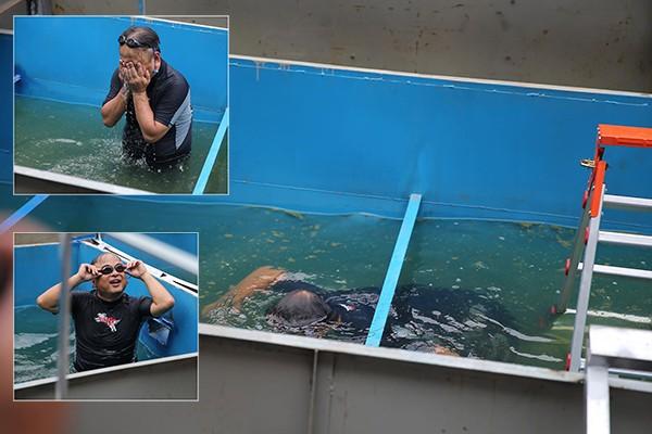 Chuyên gia Nhật Bản cho biết, nước sông Tô Lịch sau khi xử lý đã trong xanh, không còn mùi hôi, có thể bơi mà không ngứa ngáy