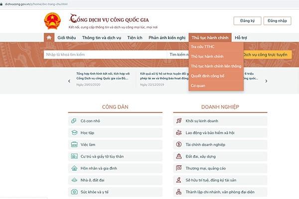Hà Nội: Khẩn trương triển khai 9 dịch vụ công trực tuyến tích hợp trên Cổng Dịch vụ công quốc gia
