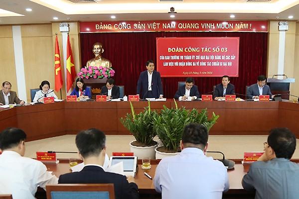 Chủ tịch UBND TP Nguyễn Đức Chung phát biểu chỉ đạo tại buổi kiểm tra