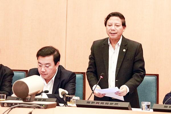 Phó Giám đốc Sở Y tế Hoàng Đức Hạnh thông tin về tình hình phòng chống Covid - 19 ở Hà Nội