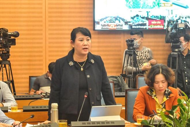 Phó Giám đốc Sở TT&TT Hà Nội Nguyễn Thị Mai Hương phát biểu tại cuộc họp