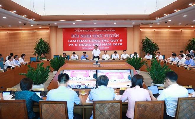 Chủ tịch UBND TP Nguyễn Đức Chung phát biểu tại hội nghị