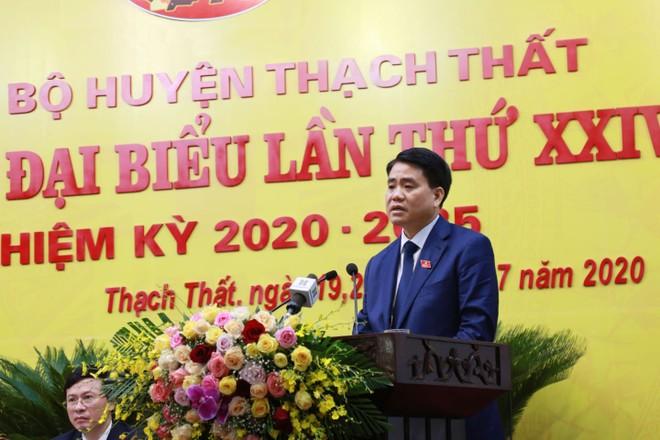 Phó Bí thư Thành ủy, Chủ tịch UBND TP Nguyễn Đức Chung phát biểu chỉ đạo tại đại hội