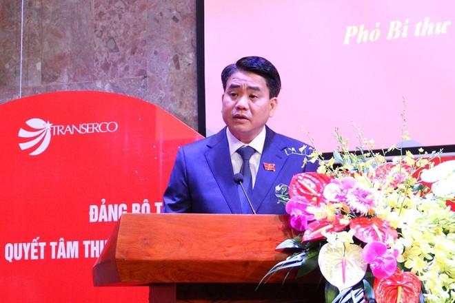 Chủ tịch UBND TP Nguyễn Đức Chung phát biểu chỉ đạo tại đại hội