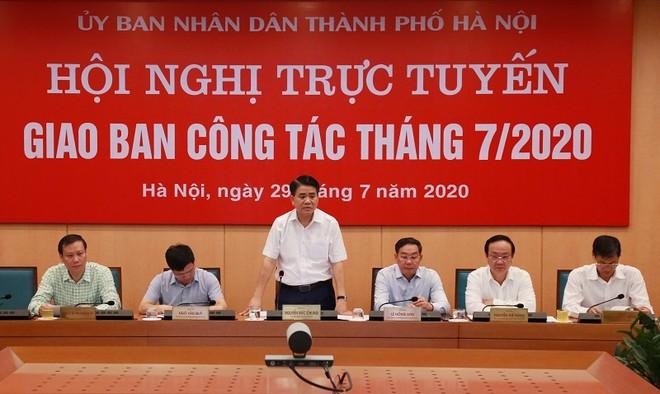 Chủ tịch UBND TP Nguyễn Đức Chung phát biểu kết luận hội nghị
