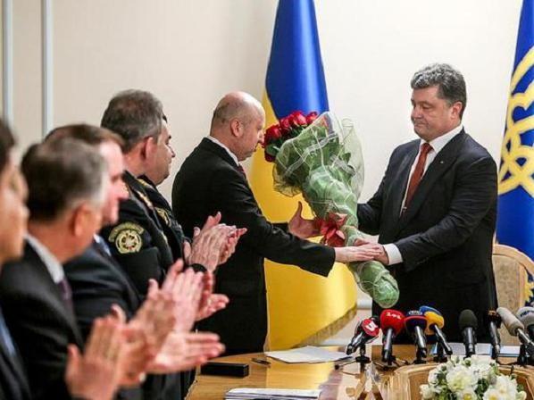 Tân thư ký NSDC Ukraine Oleksandr Turchynov tại lễ nhậm chức