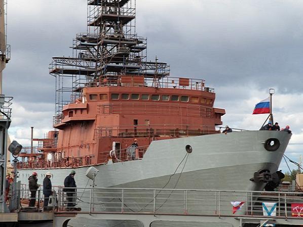 Tàu tình báo Yury Ivanov tại xưởng đóng tàu