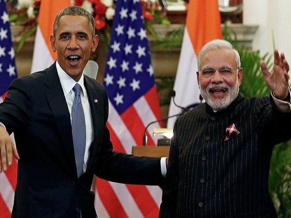 Tổng thống Mỹ Barack Obama và Thủ tướng Ấn Độ sau cuộc hội đàm hôm 25-1