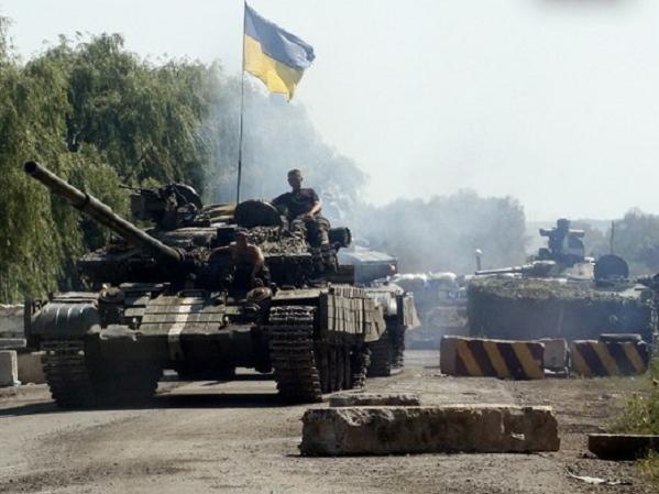 Lực lượng quân đội Ukraine tham gia chiến dịch quân sự tại miền đông