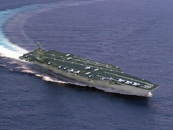 Tàu sân bay Gerald R. Ford của Mỹ được trang bị công nghệ EMALS mà Ấn Độ đang mong muốn.