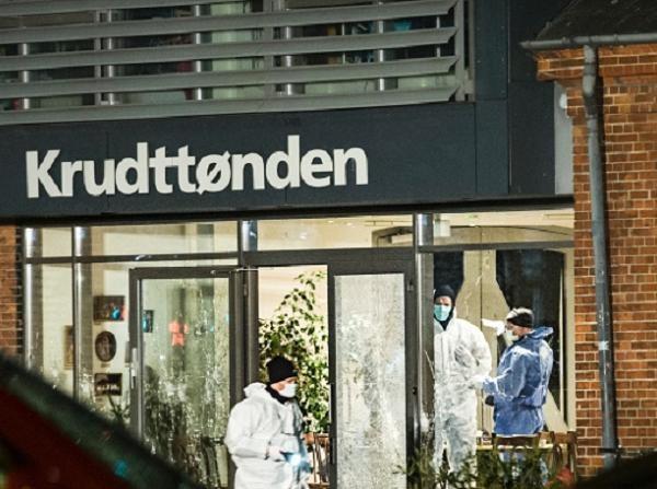 Hiện trường vụ xả súng tại một quán cà phê ở Copenhagen