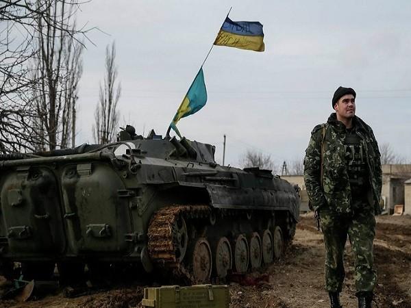 Lính Ukraine tại một đơn vị gần thành phố Debaltseve