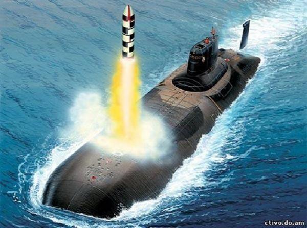 Tàu ngầm hạt nhân chiến lược Borey của Nga phóng tên lửa đạn đạo Bulava
