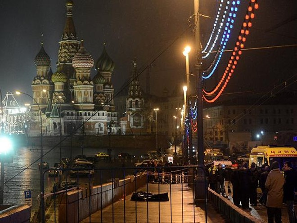 Hiện trường vụ ám sát ông Boris Nemtsov