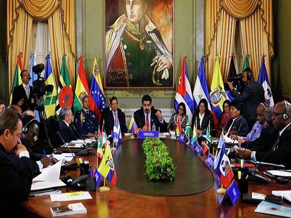 Tổng thống Venezuela Nicolas Maduro chủ trì cuộc họp của ALBA hôm 17-3