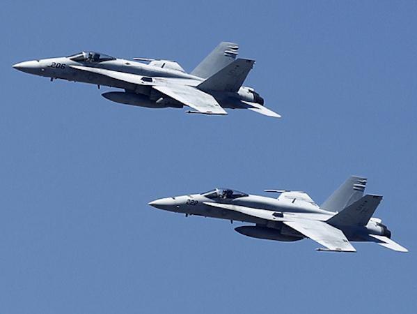 Máy bay chiến đấu F-18 của Mỹ