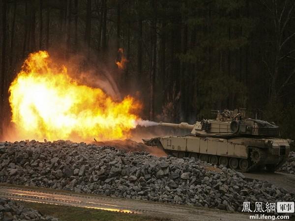 Cận cảnh siêu tăng M1-A1 Abrams huấn luyện bắn đạn phá giáp ảnh 3