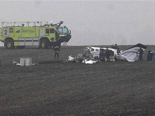 Hiện trường vụ chiếc máy bay Cessna 414A rơi ở Bloomington