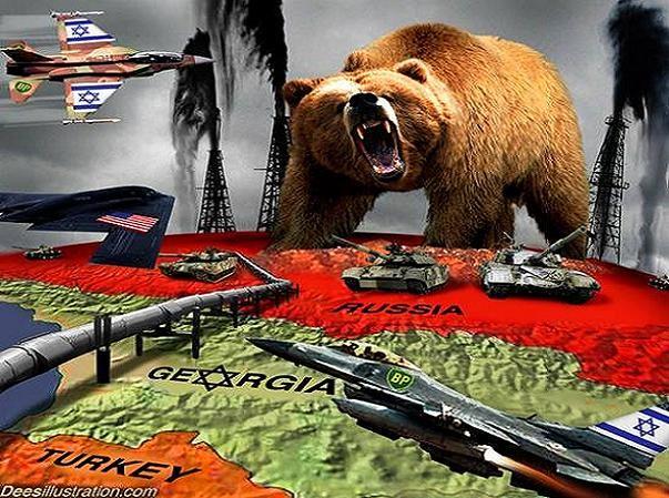 Tranh biếm họa Nga trong vòng vây của Mỹ-NATO