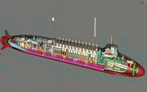 Nội thất của tàu ngầm hạt nhân Type 098 của Trung Quốc