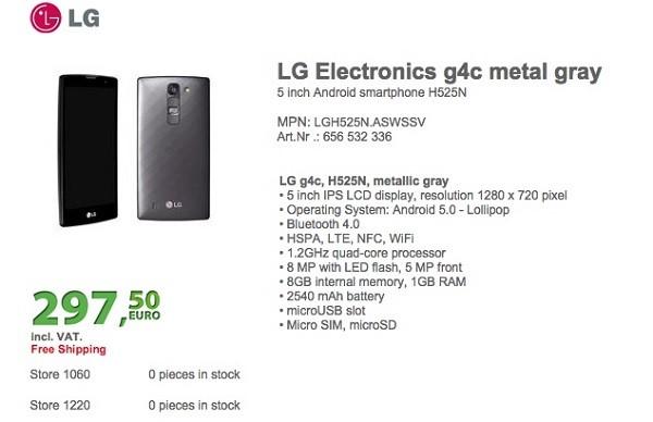 LG G4c: Tiền nào của ấy