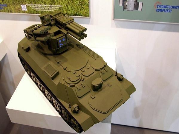 Mô hình hệ thống phòng không tầm ngắn Sosna của Nga