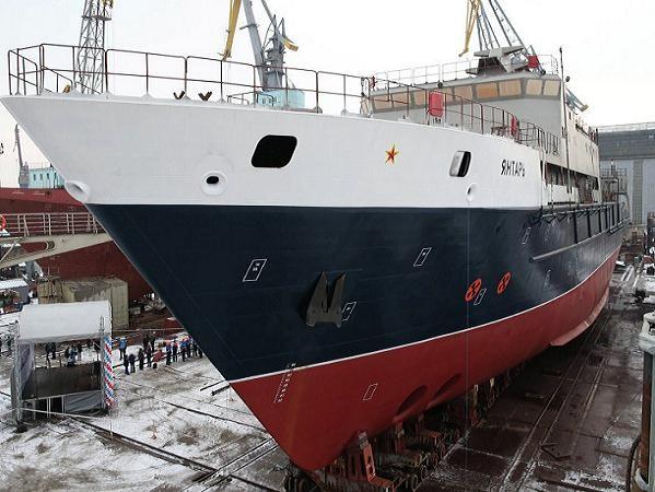 Tàu nghiên cứu hải dương Yantar của hải quân Nga tại lễ hạ thủy