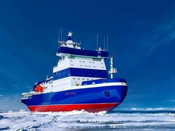 Mô hình tàu phá băng hạt nhân Arktika