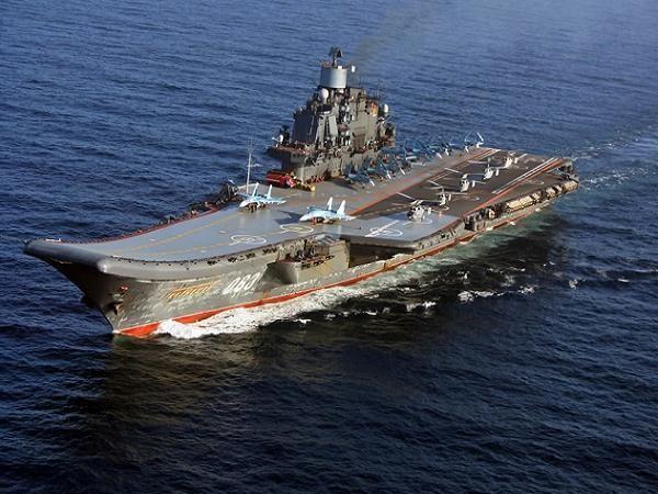Tàu sân bay duy nhất, Đô đốc Kuznetsov, của hải quân Nga