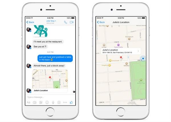 Có thể gửi địa điểm qua Facebook Messenger ảnh 3