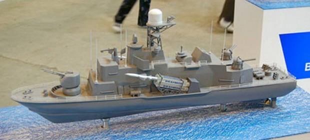 Mô hình nâng cấp Tarantul 1241.RE với tên lửa hành trình chống hạm siêu âm BrahMos của Hải quân Ấn Độ