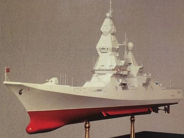 Mô hình tàu khu trục lớp Lider của hải quân Nga