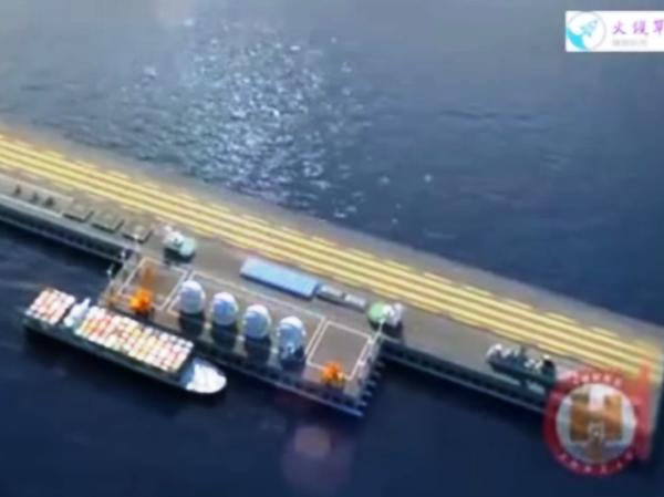Mô hình ụ nổi khổng lồ trên biển của Trung Quốc