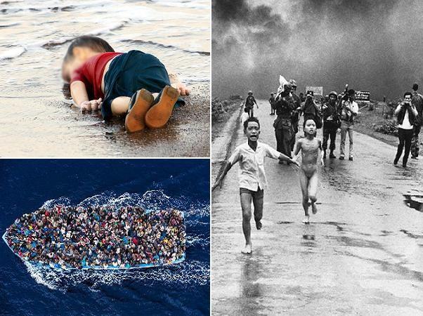 """Bức ảnh """"Em bé Syria"""" lay động hàng tỷ trái tim nhân loại như """"Em bé Napalm"""" Việt Nam"""