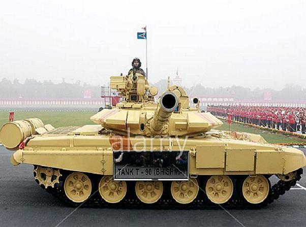 Xe tăng T-90 Bhishma của lực lượng lục quân Ấn Độ