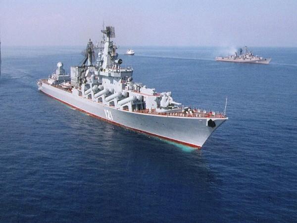 Đội tàu chiến Nga do tàu tuần dương Moskva dẫn đầu đã triển khai tới Địa Trung Hải