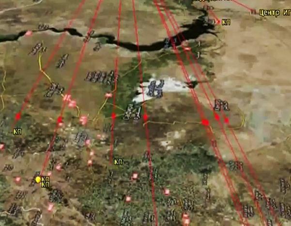 Sơ đồ đường bay của tên lửa hành trình Nga tấn công IS ở Syria