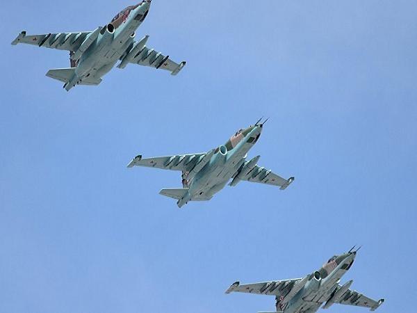 Máy bay Su-25SM của Nga tiến hành không kích tại Syria