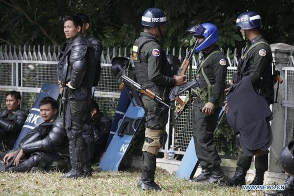 Cảnh sát Campuchia (Ảnh minh họa)